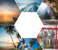 The collage of Thailand images Royalty Free Stock Photography