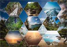 The collage of Thailand images royalty free stock images