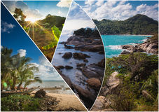The collage of Thailand images stock image