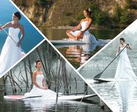 Collage on a theme of leisure Stock Photo