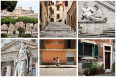Collage on the theme of Rome royalty free stock photos