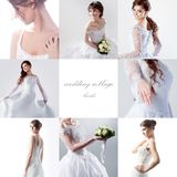 Collage on the theme of  wedding,  beautiful bride Royalty Free Stock Photo