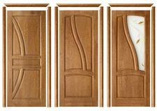 Collage of three doors Royalty Free Stock Photography