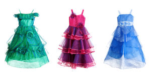 Collage of three festive dress Royalty Free Stock Photo