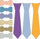 Collage ties and bow tie Royalty Free Stock Images