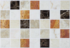 Collage tiles marble with colorful effects Stock Photo