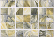 Collage tiles marble with colorful effects Stock Image