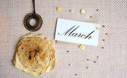 Collage till den internationella dagen för kvinna` s, mars 8 Royaltyfri Bild