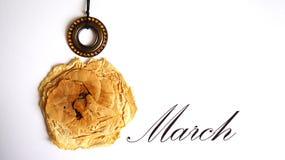 Collage till den internationella dagen för kvinna` s, mars 8, vykort Royaltyfria Bilder