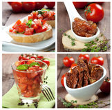 Collage tomatoes Royalty Free Stock Photos