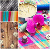 Collage tools for sewing Royalty Free Stock Image