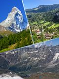Collage of tourist photos of the Switzerland.  royalty free stock photography