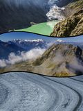 Collage of tourist photos of the Switzerland.  royalty free stock image