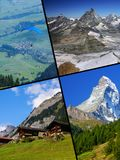 Collage of tourist photos of the Switzerland.  stock photography