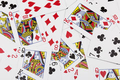 Collage of tradional playing cards Stock Photos