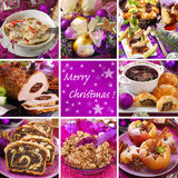 Collage with traditional christmas food Stock Image