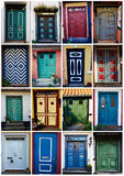 Collage of traditional front doors Denmark Royalty Free Stock Photography