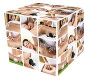 Collage tradizionale di massaggio Fotografia Stock Libera da Diritti