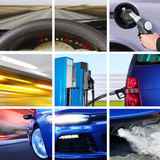 Collage of transport attributes royalty free stock images
