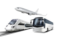 Collage of transport stock illustration