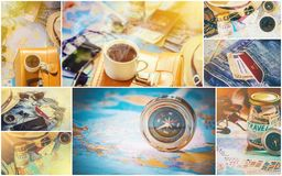 Collage Travel. Good. Collage Travel. Selective focus. Good stock images