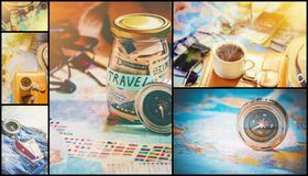 Collage Travel. Good. Collage Travel. Selective focus. Good royalty free stock photography