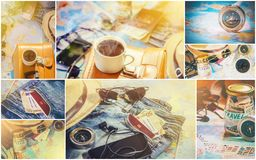 Collage Travel. Good. Collage Travel. Selective focus. Good royalty free stock photo