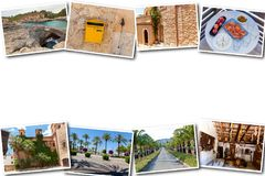 Collage travel Spain Palma de Mallorca. The collage from views of Palma de Mallorca, Spain. Collage travel Spain Palma de Mallorca on a white background Royalty Free Stock Photography