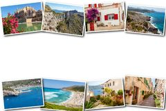 Collage travel Spain Palma de Mallorca. The collage from views of Palma de Mallorca, Spain. Collage travel Spain Palma de Mallorca on a white background Royalty Free Stock Images