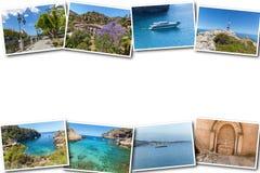Collage travel Spain Palma de Mallorca. The collage from views of Palma de Mallorca, Spain. Collage travel Spain Palma de Mallorca on a white background Royalty Free Stock Photography