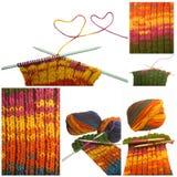 Collage tricoté de laines Photo stock