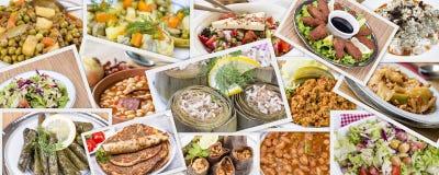Collage turco differente delizioso tradizionale degli alimenti Menu ricco immagine stock