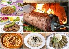 Collage turco differente delizioso tradizionale degli alimenti Menu ricco fotografie stock libere da diritti