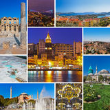 Collage of Turkey images Stock Photography