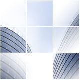 Collage of two office buildings. Stock Image