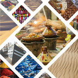 Collage of typical places in Morocco - my photos Royalty Free Stock Photo