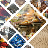 Collage of typical places in Morocco - my photos Stock Photography