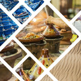 Collage of typical places in Morocco - my photos Royalty Free Stock Photography