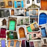 Typical vintage wooden doors collage Royalty Free Stock Photo