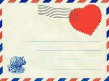 Collage, une lettre d'amour. Carte postale de cru. Photographie stock libre de droits