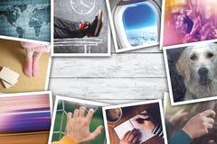 Collage urbain de photo de mode de vie de la jeunesse image stock