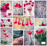 Collage for Valentine Royalty Free Stock Photography