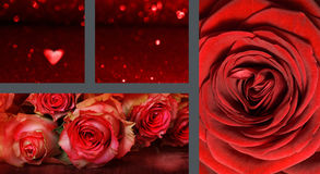 Collage Valentines day Stock Images