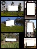 Collage van aanplakborden Stock Foto's