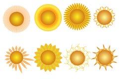 Collage van acht zonnen Royalty-vrije Stock Afbeelding