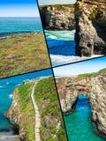 Collage van Asturias Spanje Europa royalty-vrije stock afbeeldingen