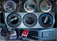 Collage van auto de binnenlandse details Stock Foto
