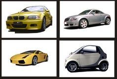 Collage van auto's Stock Afbeelding