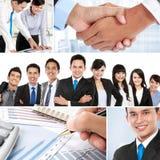 Collage van Aziatische bedrijfsmensen Stock Afbeelding