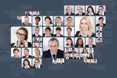 Collage van bedrijfsmensen Stock Foto's